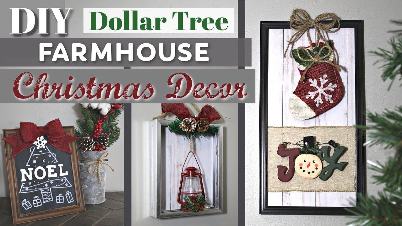 Diy Christmas Decor From 1 Photo Frames Dollar Tree Farmhouse