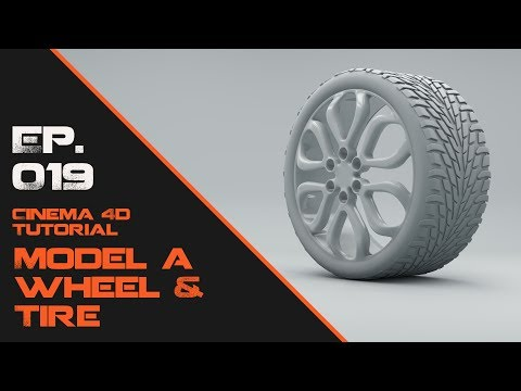 Model a Wheel and Tire in Cinema 4D
