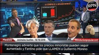 Fantino pide a Moreno luego de escuchar a Montenegro
