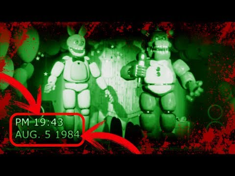 GRABACIÓN DE 1984 Y 1992 DE FREDDY FAZBEAR PIZZA  Vídeos antiguos de five nights at freddy's