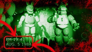 GRABACIN DE 1984 Y 1992 DE FREDDY FAZBEAR PIZZA  Vdeos antiguos de five nights at freddys