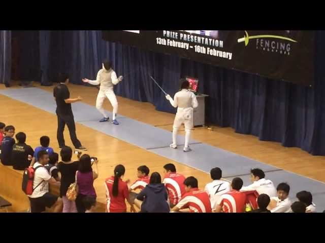 Singapore Cadet Fencing World Cup 2014 - Final -  MIF