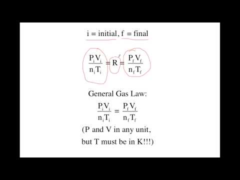 General Gas Law:  Effect of Changes in Volume, Temperature, or Pressure