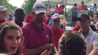 Packers QB Aaron Rodgers interacts with fans at #BMWCharityProAm