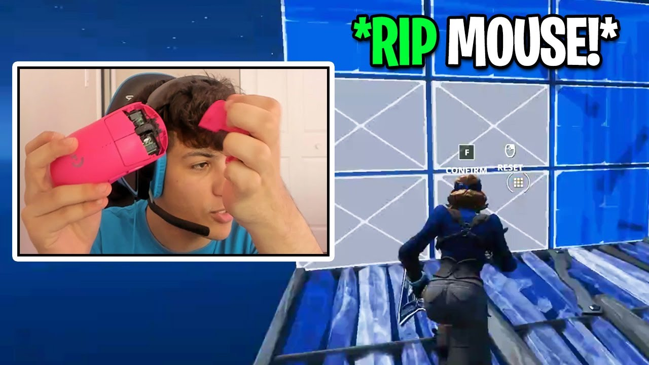 RONALDO *BREAKS HIS MOUSE* Then Still Plays With it (Fortnite Season 4)