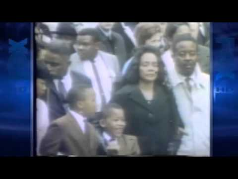 Coretta Scott King Marches In Memphis