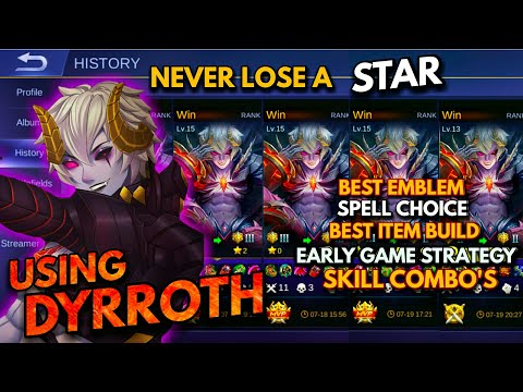 Dyrroth Proper Guide, Game Strategy, Skill Combo's, Best Build, Best Spell | Never Lose A Star #2