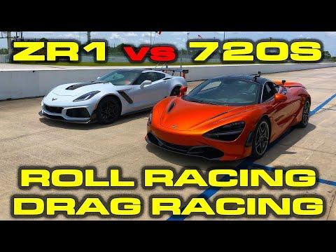 HP Chevrolet Corvette ZR / mile and Roll Racing vs  HP McLaren S