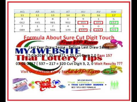 Thai Lottery Tips Cut Digit And Touch Digit 1.2.2017