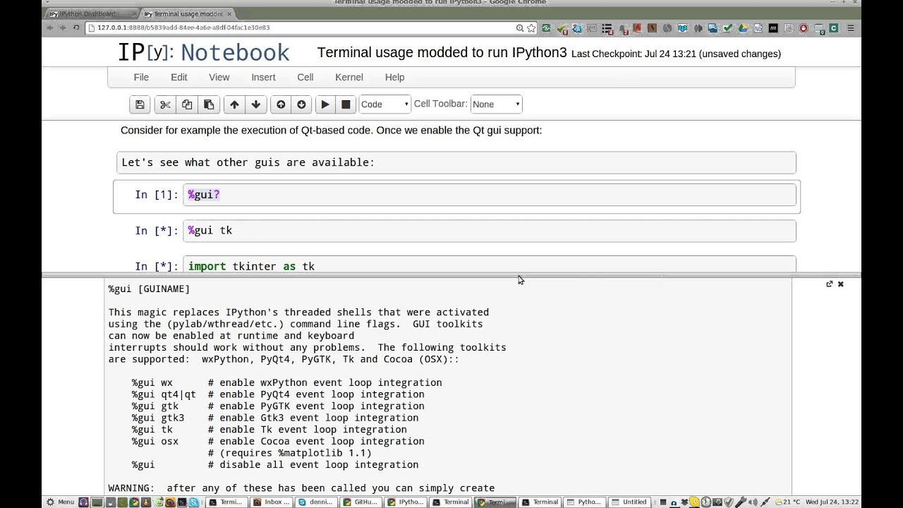 tkinter runs in IDLE but not in IPython