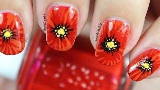 Close Up Poppy Nail Art
