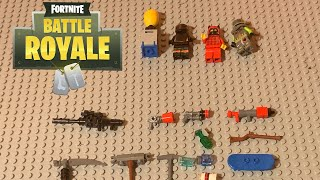 Lego fortnite skins, pickaxes, items' guns, and more! (Look in discription)