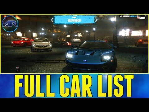 The Crew : Full Car List + DLC Cars