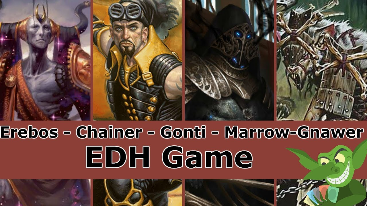 Erebos vs Chainer vs Gonti vs Marrow-Gnawer EDH / CMDR game play for Magic:  The Gathering
