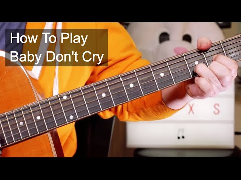 'Baby Don't Cry' INXS Acoustic Guitar Lesson mp3