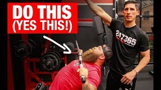 "Get a ""MONSTER"" Bench Press (3 MOVES!)"