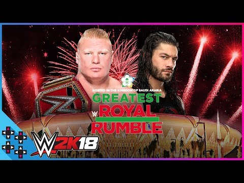 Greatest Royal Rumble: Brock Lesnar vs. Roman Reigns - Universal Title Cage Match - WWE 2K18 Sims thumbnail