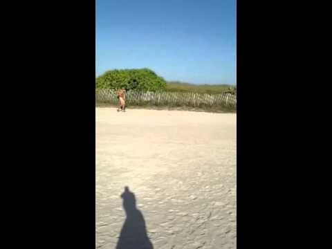Jackass naked at South Beach, Florida - YouTube