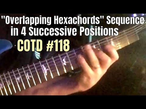 Overlapping Hexachords in 4 Successive Positions | ShredMentor Challenge of the Day #118