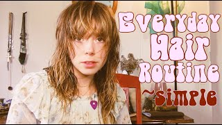 Everyday Hair Routine | Tips for Bangs