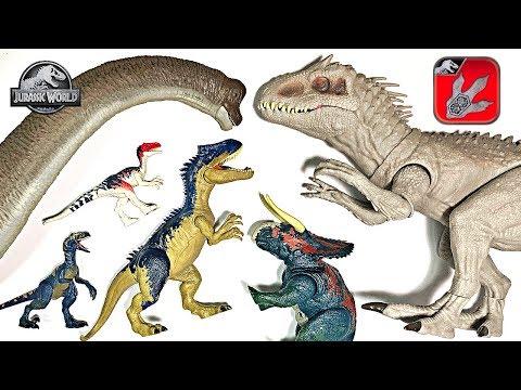 10 New Jurassic World Dinosaurs! Learn Dinosaur Names For Kids With Jurassic World Toys