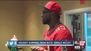 Several families get holiday surprise from Bucs player Gerald McCoy