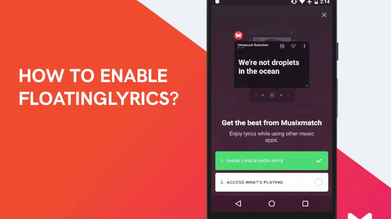 How To Enable The Floatinglyrics In The Musixmatch App Youtube