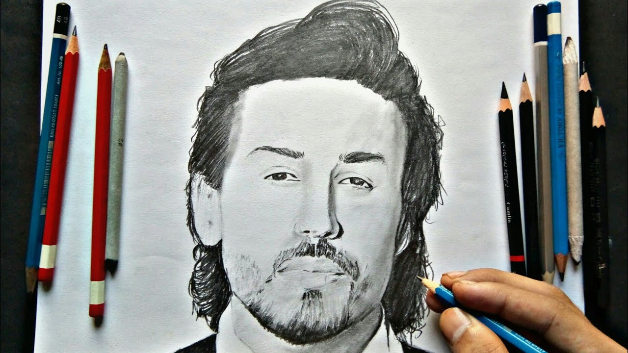 Drawing Tiger Shroff - YouTube