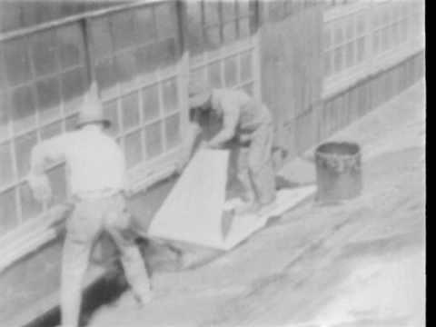application-of-built-up-asbestos-roofing-1930