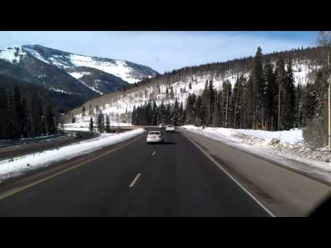 10,662 feet high in the Rocky Mountains on Colorado on Interstate 70 West near Wingle Ridge