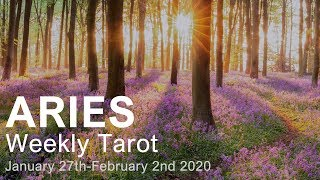 "ARIES WEEKLY TAROT ""THE COMEBACK ARIES! POSITIVE KARMA"" January 27th-February 2nd 2020"