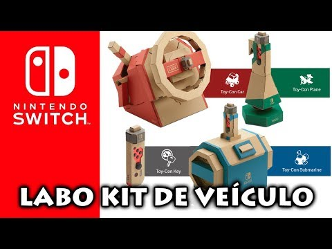 Novo Vehicle Kit Para Nintendo LABO | Joycon Com DPAD Cruz | Sonic Mania PLUS Vende Mais No Switch