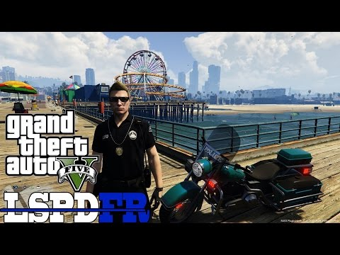 Santa Monica Beach Motorcycle Patrol GTA 5 LSPDFR Episode 47