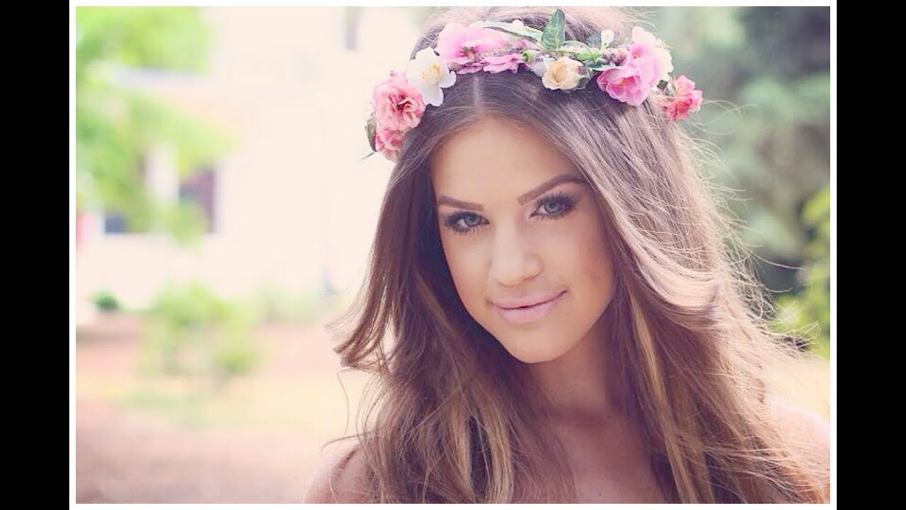 Bridal makeup diy flower crown youtube dhlflorist Images