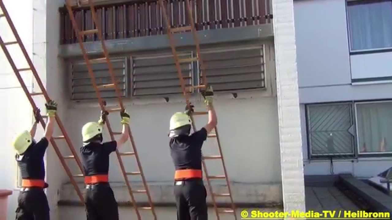 S Hakenleitersteigen Feuerwehr Heilbronn Tag Der Offenen Tür 2013 Vorführung