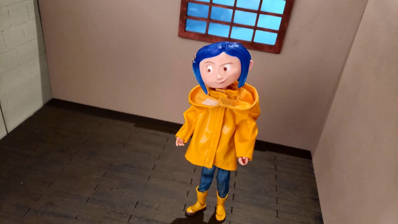 Coraline Bendy Doll In Rain Coat By Neca Quick Review Small Stop Motion Youtube