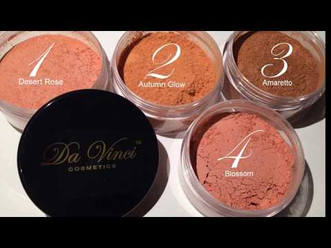 MINERAL BLUSH POWDER SHADES by Da Vinci Cosmetics 100 % NATURAL !