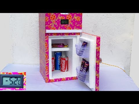 How to make a Mini  Refrigerator ( Updated Version)