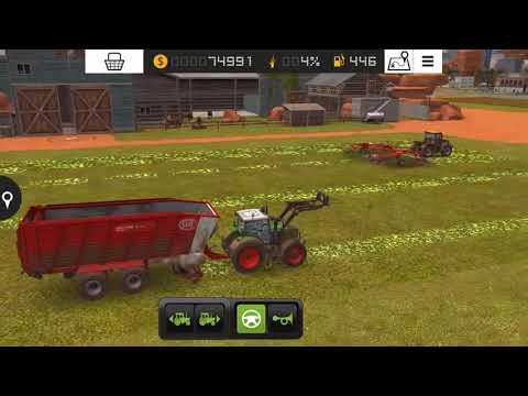 Cutting grass fs18