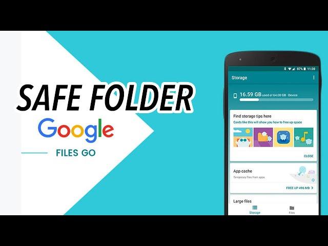 Cara Memunculkan / Mengaktifkan Safe Folder di Files Go