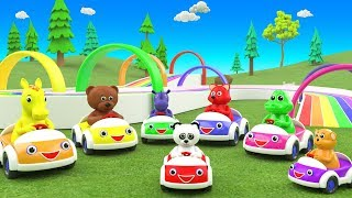 Learn Forest Animals Names for Children with Animals Cars Toys 3D Kids Educational Baby Videos