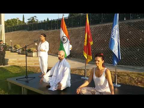 Glimpses of the Yoga Day  celebrations at UN office, Podgorica, Montenegro