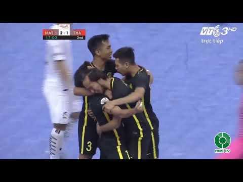 [ HIGHLIGHT ] Thailand 🇹🇭️ 4 - 3 🇲🇾️️ Malaysia. 🏆AFF Futsal Championship Vietnam 2017