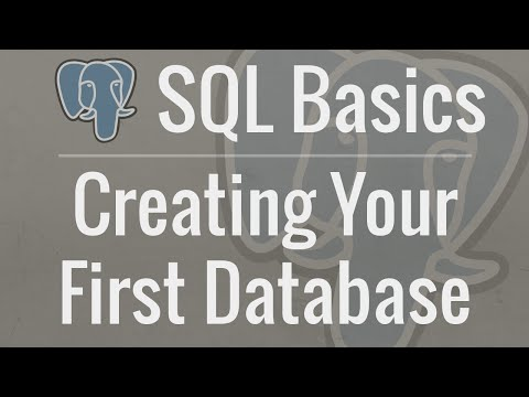 SQL Tutorial for Beginners 1: Installing PostgreSQL and Creating Your First Database