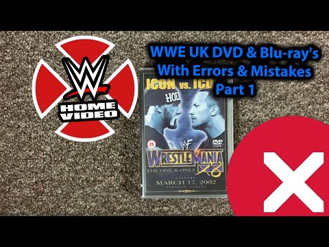 WWE UK DVD & Blu-ray's With Errors & Mistakes Part 1