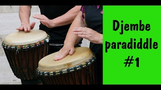 Djembe lessons. paradiddle exercise #1 / Уроки джембе Парадидл #1