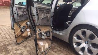 BMW E60 Замена дверных карт