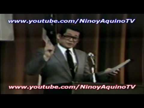 NINOY AQUINO's memorable speech (2/9) in Los Angeles (2-15-1981)