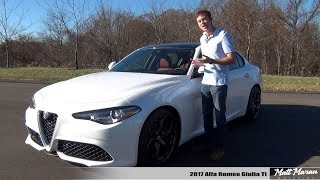 review 2017 alfa romeo giulia ti the new benchmark