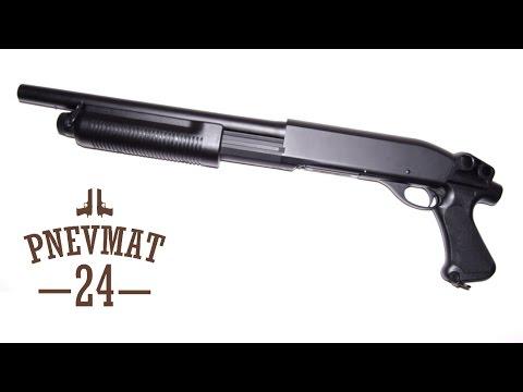 CQB-тестдрайв спрингового дробовика CYMA CM352 Remington M870 .